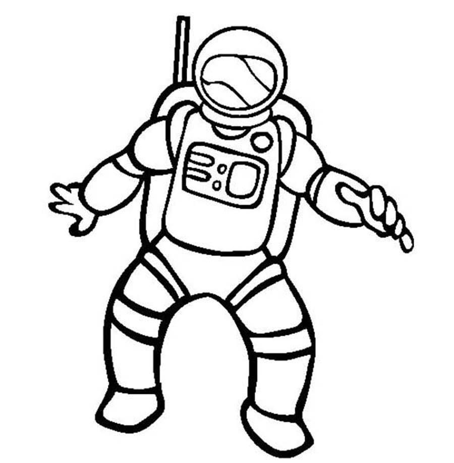 Spacesuit clipart : Outline Outline Astronaut Space