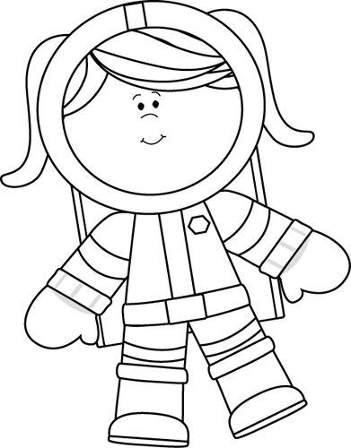 Space clipart black and white Black Astronaut craft Astronaut 20+