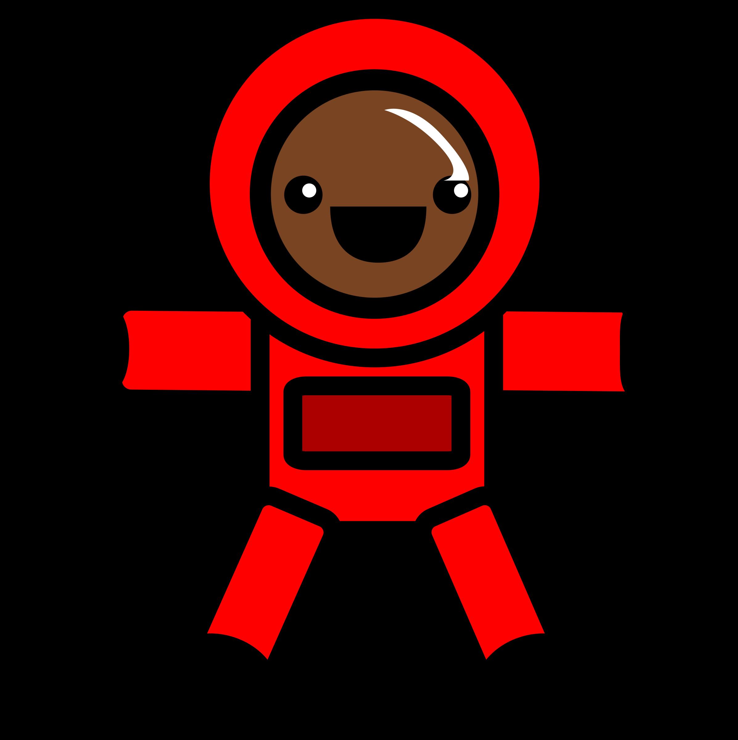Spacesuit clipart cute Astronaut suit red space Clipart