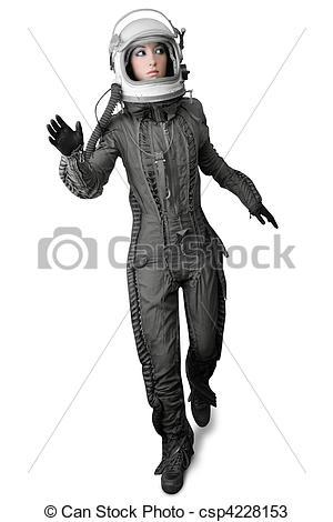 Spacesuit clipart female astronaut Helmet Photo suit suit Stock