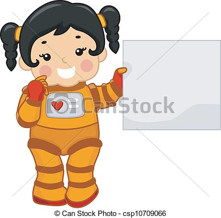 Spacesuit clipart space science Woman a EPS Girl Astronaut;