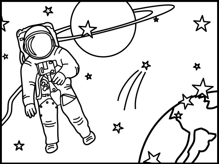 Astronaut clipart the moon drawing 81 about images http://bestclipartblog on