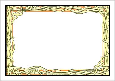 Spaghetti clipart border  A4 SparkleBox (SB8080) borders