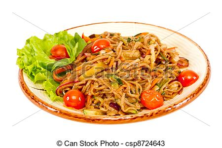 Noodle clipart fried noodle Fried Noodle Stock Noodle csp8724643