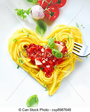 Spaghetti clipart heart Pictures Cooked Shaped Heart Shaped