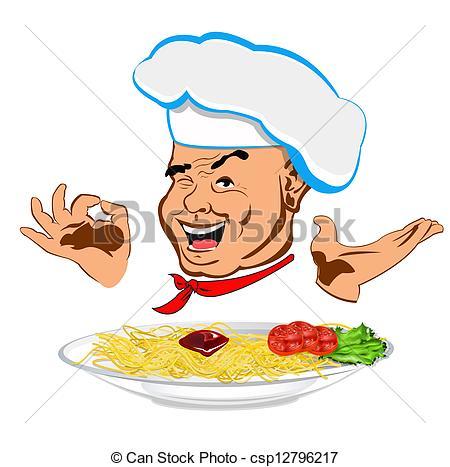 Spaghetti clipart italian person Chef spaghetti  csp12796217 traditional
