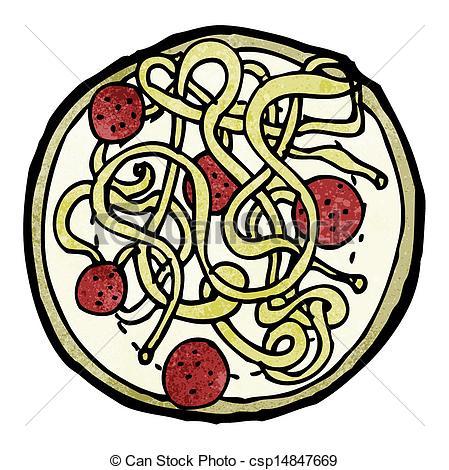 Spaghetti clipart logo  Vector and of meatballs