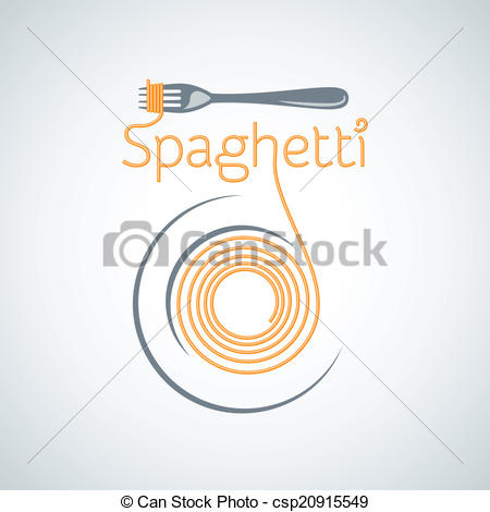 Spaghetti clipart logo 8 Vector  pasta of