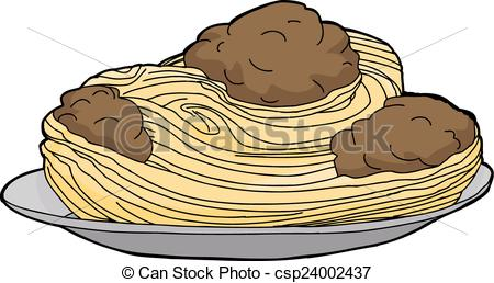 Spaghetti clipart meat Plate of Plate Big Pasta