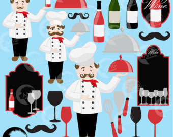 Wine clipart 4 cup Restaurant Etsy clipart clip chef