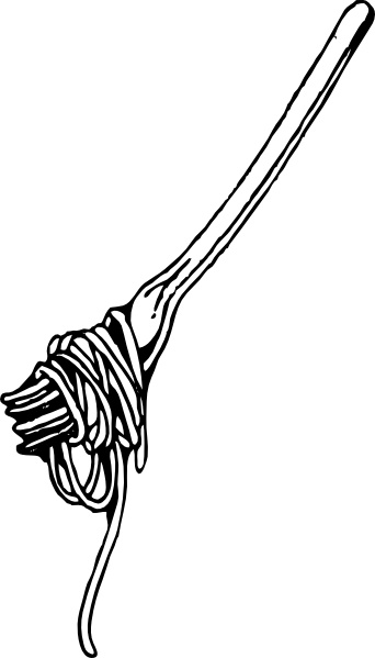 Spaghetti clipart vector 74 With office Fork Fork