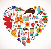 Spain clipart Art heart Spain GoGraph Free