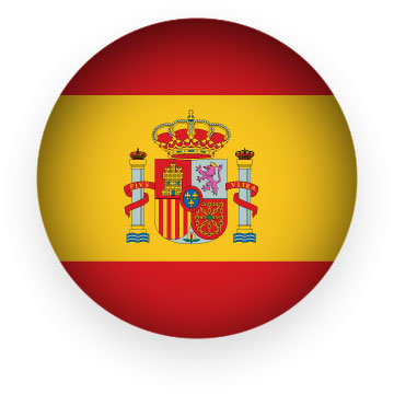 Spanish clipart animated Animated round Clipart Spain button