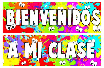 Spanish clipart bienvenidos Spanish Banner  Welcome Border