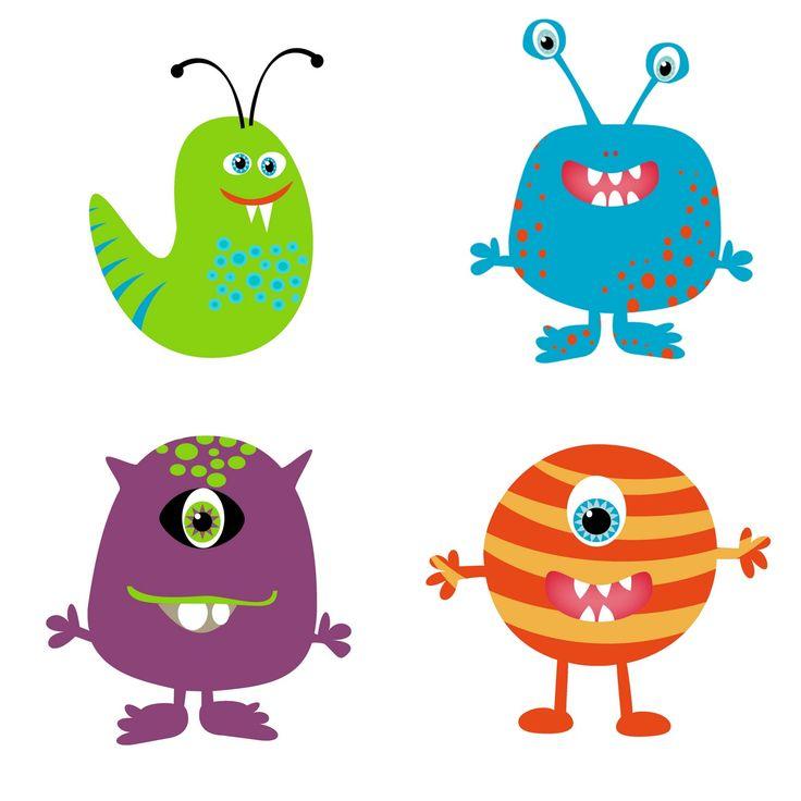 Monster clipart cute monster Spanish Deborah by Deborah on