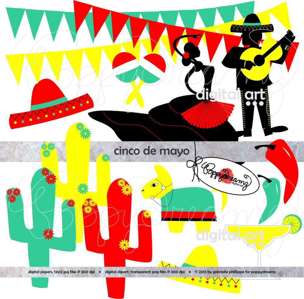 Pepper clipart margarita Cinco Fiesta Digital Mariachi clip