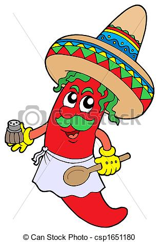 Spanish clipart mexican chef Pictures illustration Stock chilli