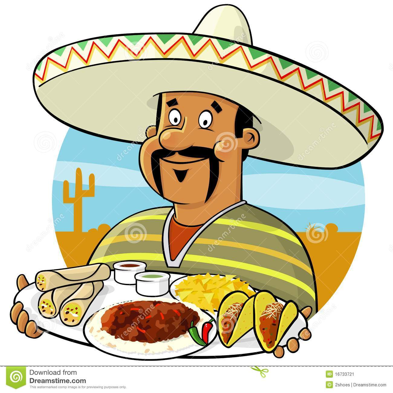 Spanish clipart mexican chef Food Bay Cartoons Clipart Mexican