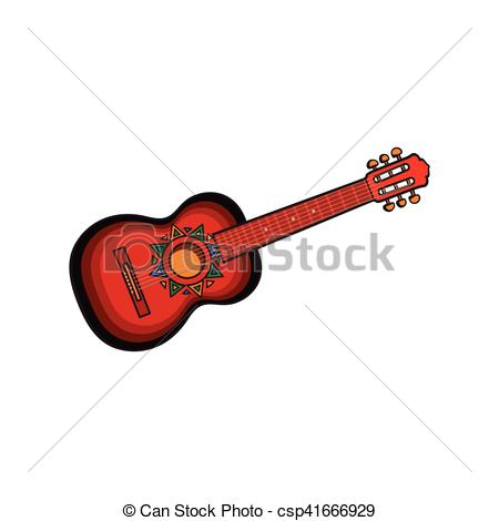 Spanish clipart mexican guitar Vector of Spanish guitar csp41666929