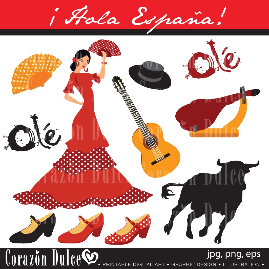 Spanish clipart mexican guitar And Use Spain guitar Personal
