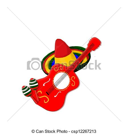 Spanish clipart mexican guitar Collection  Mexican Clipart instrument