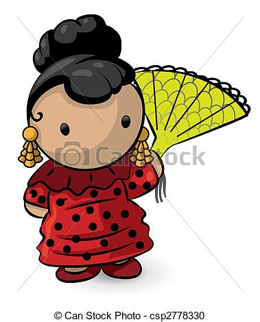 Spanish clipart mexican lady Csp2778330 Fan with with Fan