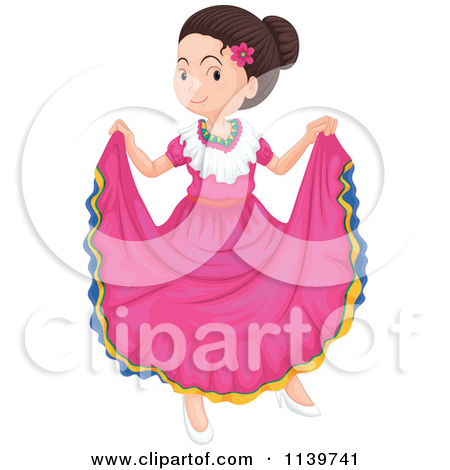 Spanish clipart mexican lady Clipart Dancer Female Dancer Mexican