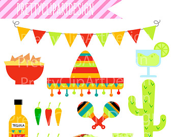 Spanish clipart mexican party Cliparts decorations Clip Decor Free