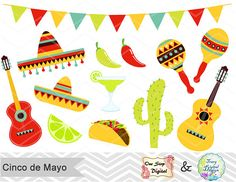Spanish clipart mexican party Mexican de Fiesta Party Cinco
