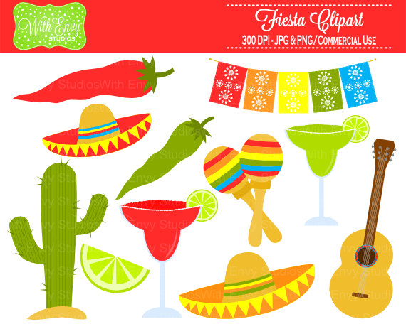 Spanish clipart mexican party Clip clip Fiesta Art art