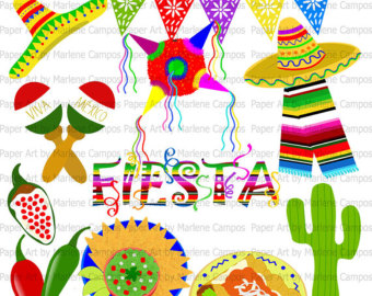 Spanish clipart mexican party Fiesta clip Mexican Border Art