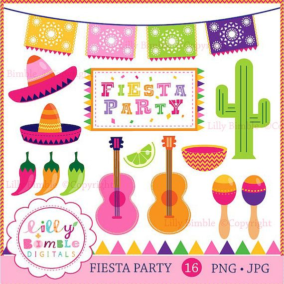 Spanish clipart mexican party Spanish and clipart best cards