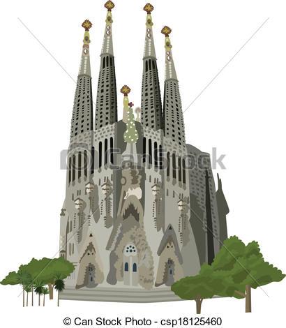 Barcelona clipart Vector Sagrada Clip  Sagrada
