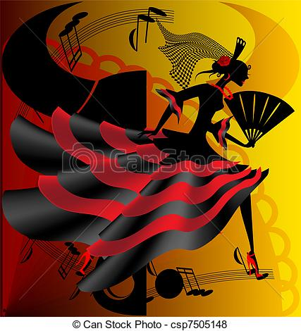 Spanish clipart spanish dance Dance abstract Vector bull of