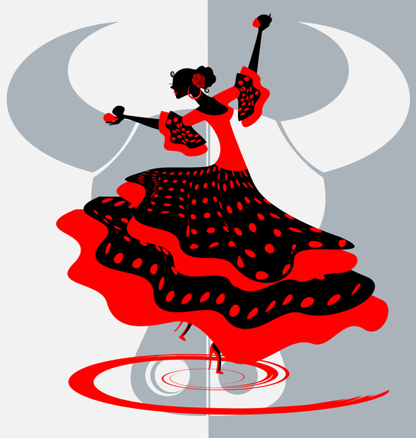 Spanish clipart spanish dance Dance material material 02 vector