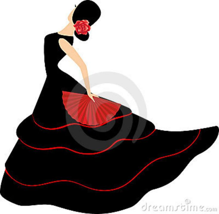 Spanish clipart spanish dance On dancers with flamenco spain