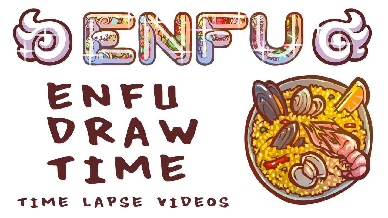 Spanish clipart spanish food YouTube Enfu Draw SPANISH Paella