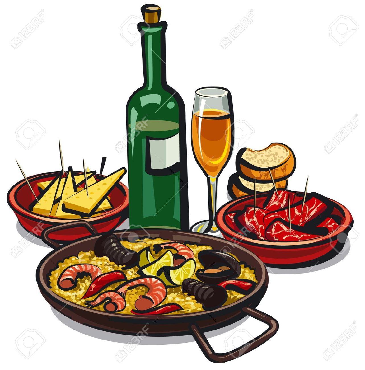 Spanish clipart spanish food Spanish Food Spanish Food Clipart