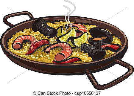 Spanish clipart spanish paella Clip Art paella Vector of