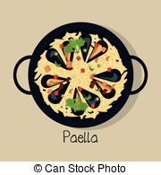 Spanish clipart spanish paella Of  illustration spanish food