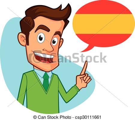 Spanish clipart spanish teacher Vector  spanish Sympathetic Art