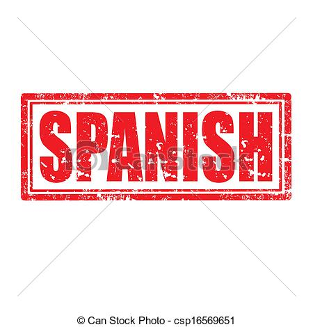 Spanish clipart spanish word With Spanish Vector stamp stamp