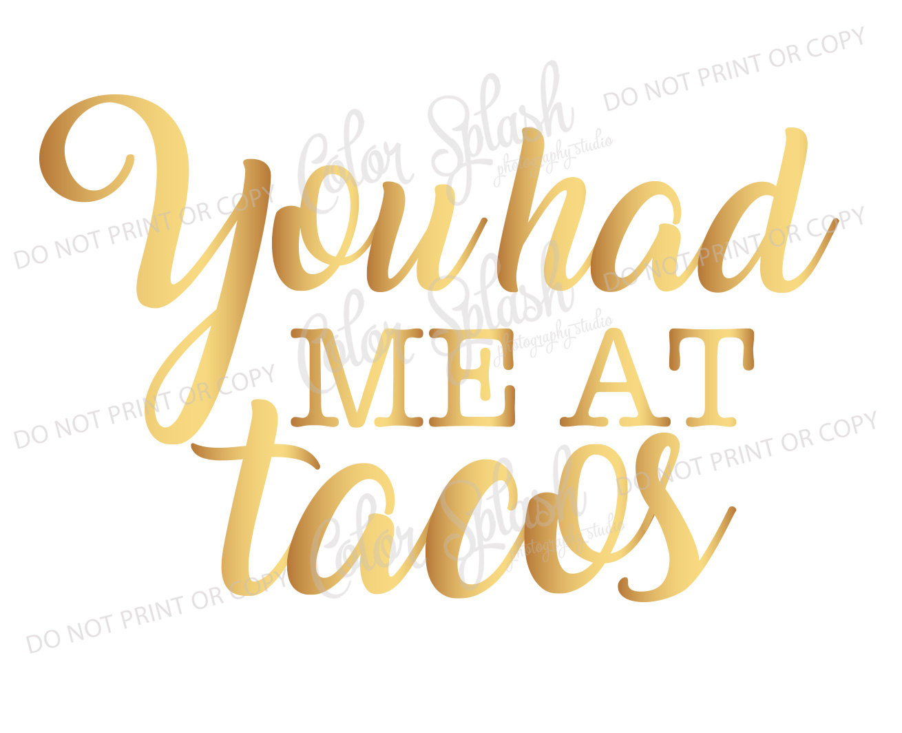 Spanish clipart taco stand Taco saying me at had