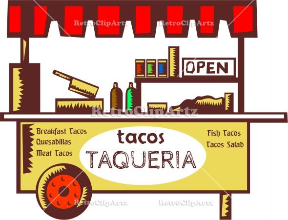 Spanish clipart taco stand Taco of best Stand Illustration