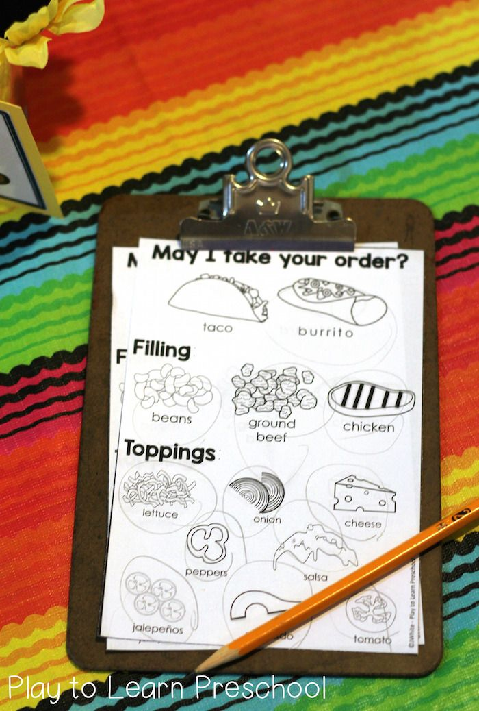 Spanish clipart taco stand Pinterest ideas Dramatic Play Stand