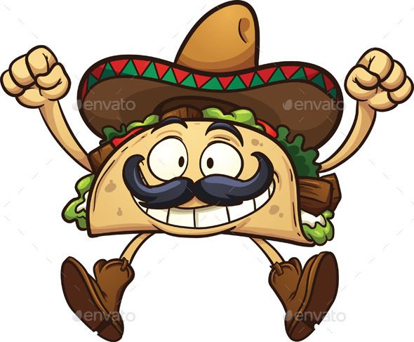 Spanish clipart taco stand Pinterest 133 best Taco Illustrations