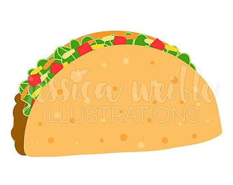 Spanish clipart taco stand Mexican Taco Clipart Crunchy Clip
