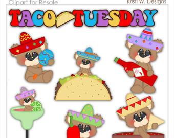 Spanish clipart taco stand Designs Kristi Tuesday Clipart Taco