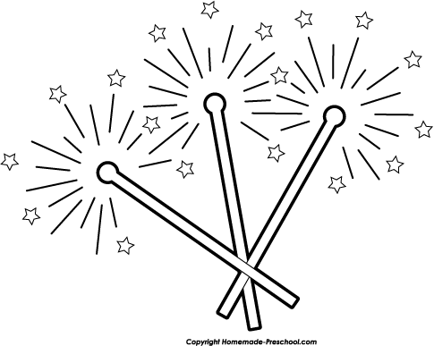 Sparklers clipart Free Click Clipart to Fireworks