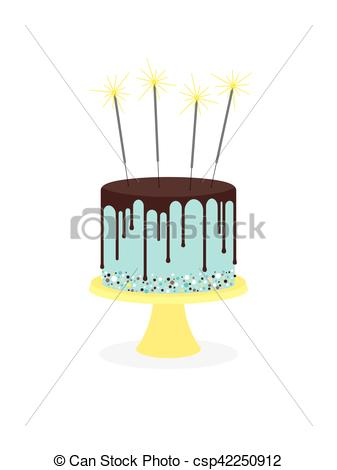 Vector Art sparklers with of